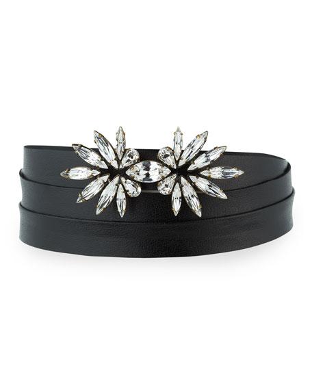 Harper Crystal Choker Necklace, Black
