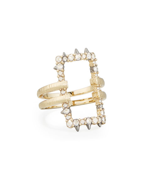 Crystal Oversized Link Ring