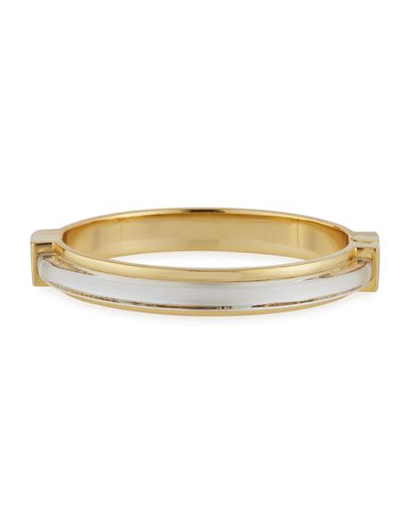 Minimalist Hinge Bangle Bracelet