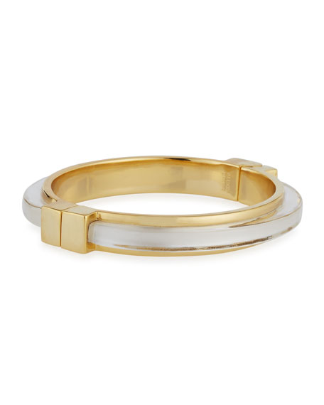 Minimalist Hinge Bangle Bracelet
