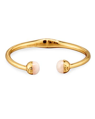 Logo Bead Hinged Bracelet