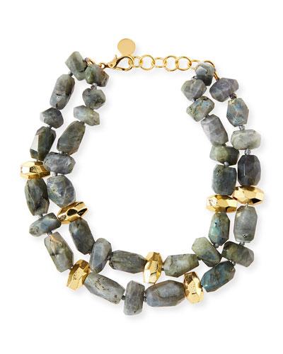 Two-Strand Labradorite Necklace