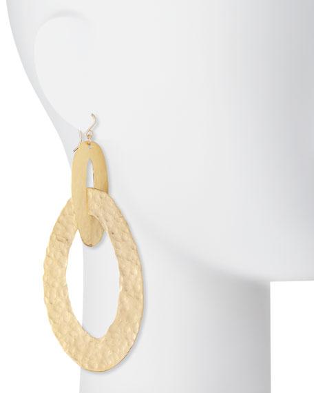 Large Hammered Double-Hoop Earrings