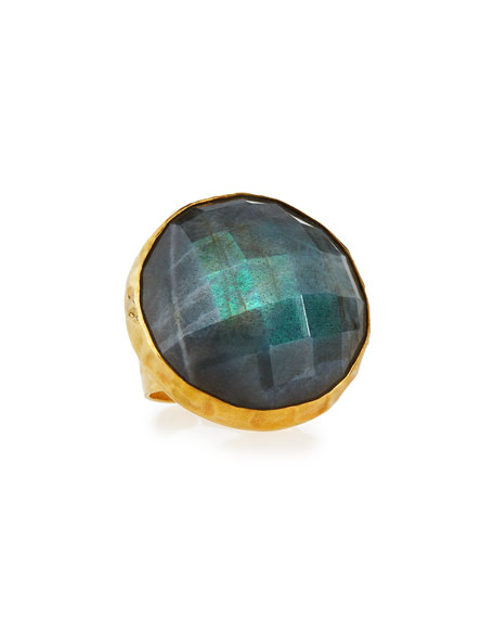 NEST Jewelry Round Faceted Labradorite Ring