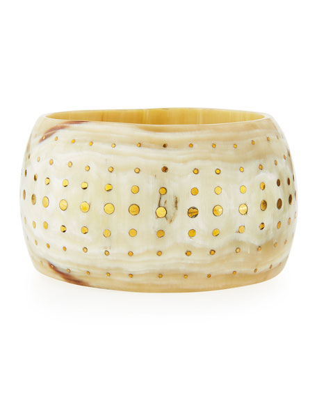 Mfalme Studded Light Horn Bangle