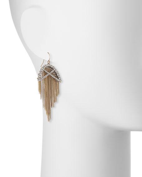 Opaline Winter Lattice Wire Earrings
