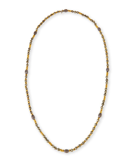 Hipchik Ava Pyrite & Golden Nugget Necklace