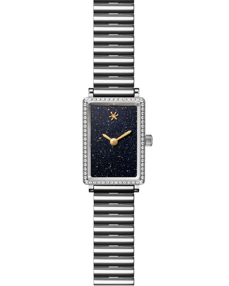 GOMELSKY BY SHINOLA THE SHIRLEY FROMER BRACELET WATCH WITH DIAMONDS, 26MM X 18.5MM