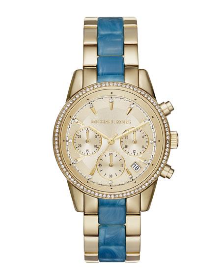 Michael Kors 37mm Ritz Bracelet Strap Chronograph Watch