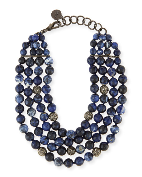 product bead and necklace sodalite genuine lapis denim long blue gemstone