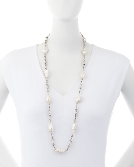 Stephen Dweck Baroque Pearl Necklace, 37""