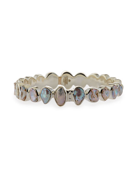 Stephen Dweck Sterling Silver Keshi Pearl Bracelet