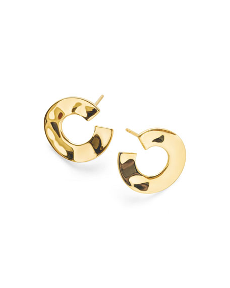 Ippolita 18K Senso??? Open Wavy Disc Earrings