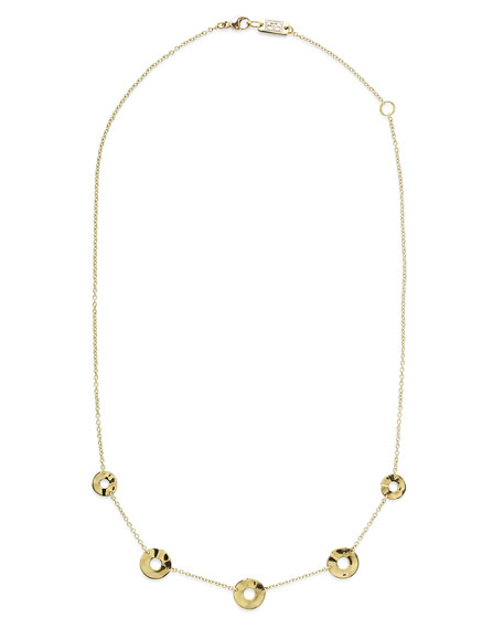 "Ippolita 18K Senso&#153 Disc Five-Station Necklace, 18"""