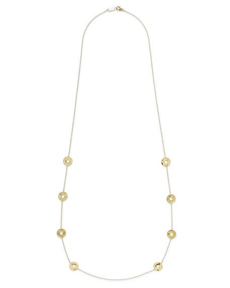 "Ippolita 18K Senso&#153 Disc Station Necklace, 37"""