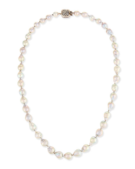 Mixed Baroque Pearl Necklace, 32""