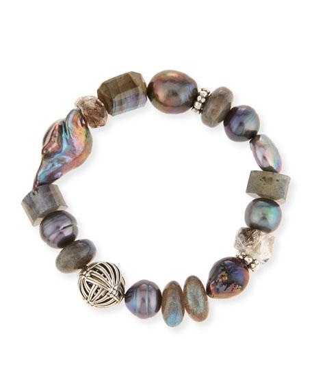 Stephen Dweck Pearl & Labradorite Bracelet