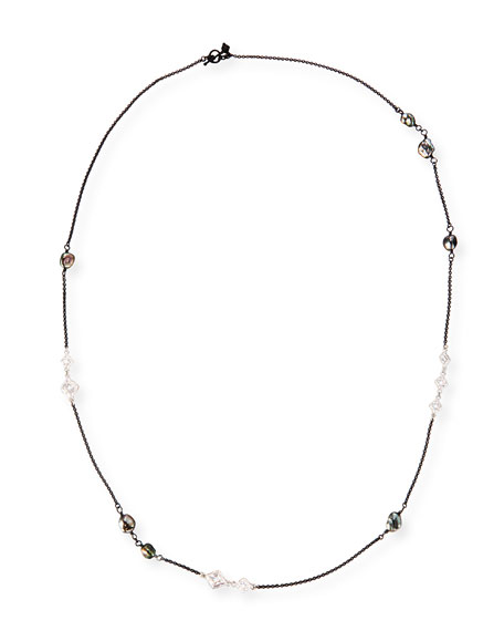 Image 1 of 2: New World Scroll Chain Necklace with Keshi Pearls, 36""