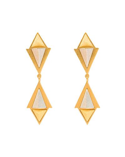 Heraldry Convoy Double-Drop Earrings