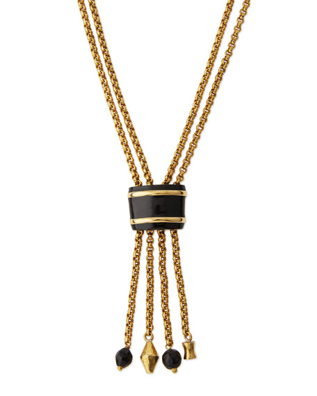 Ashley Pittman Msanii Long Bronze Tassel Necklace