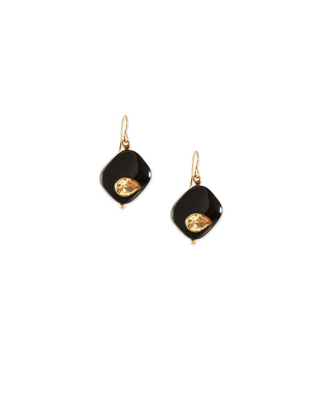 Ashley Pittman Sanamu Dark Horn Mini Drop Earrings