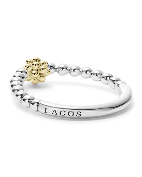 Icon Caviar Stacking Ring, Size 7
