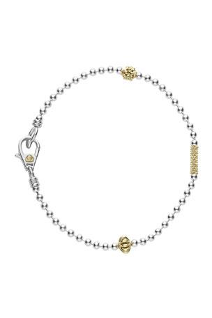 Lagos Caviar Icon 1-Row Ball-Chain Bracelet