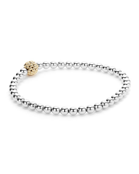Caviar Icon Ball Stretch Bracelet, Size Medium
