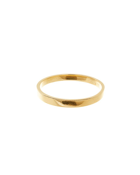 Nude Small Vanity Band Ring in 14K Gold, Size 7
