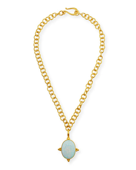 Dina Mackney Opal Enhancer in 18K Gold Vermeil