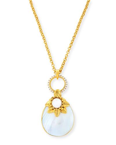 Mother-of-Pearl Doorknocker Pendant Necklace