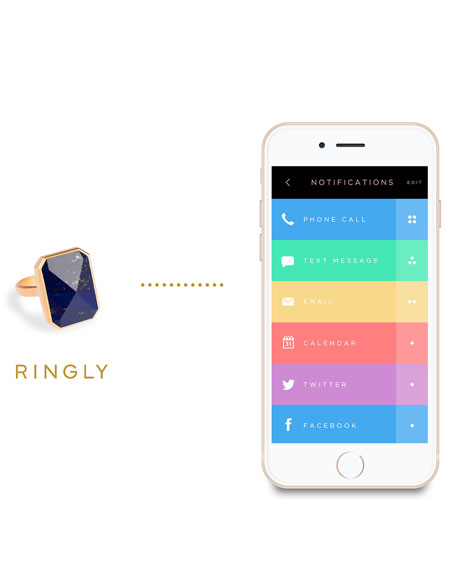 Out to Sea Activity Tracker Smart Ring, Blue