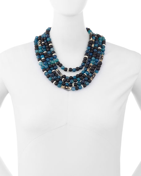 Five-Strand Beaded Necklace