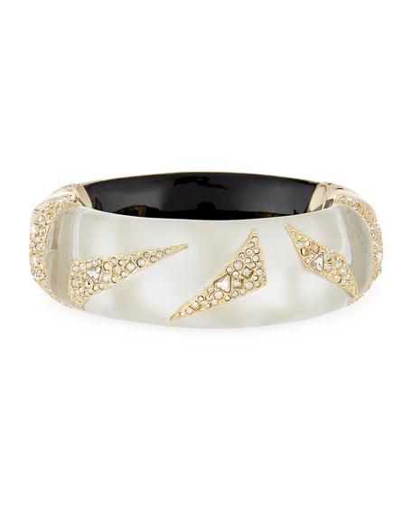 Alexis Bittar Crystal-Encrusted Origami Bracelet