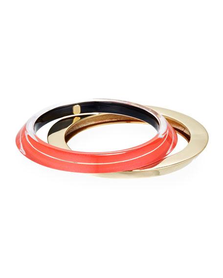 Angled Bangle Bracelet Duo