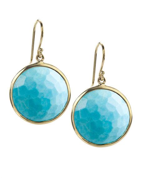 Ippolita 18k Gold Rock Candy Lollipop Earrings, Turquoise with Diamonds