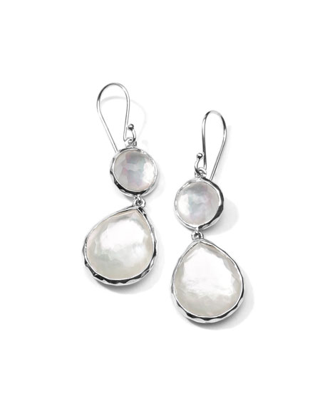 Ippolita Mother-of-Pearl Wonderland Teardrop Earrings in Oyster