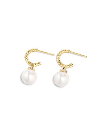 David Yurman Solari 18K Gold & Pearl Earrings with Diamonds
