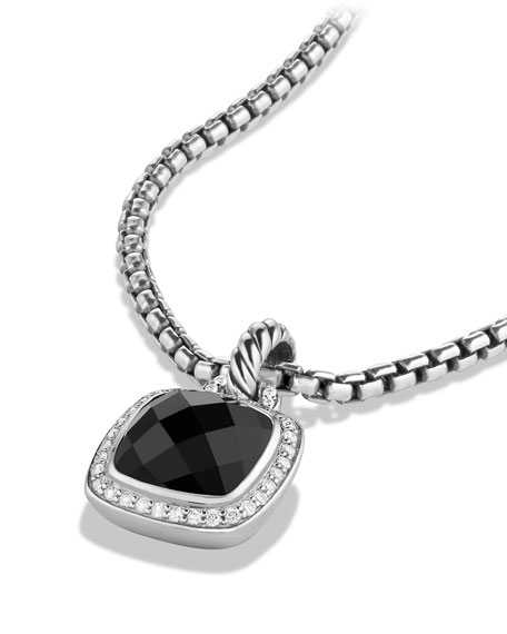 Image 4 of 4: David Yurman Albion Stone Pendant with Diamonds