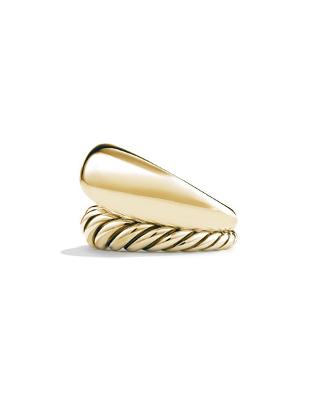 17mm Pure Form Two-Row Ring in 18K Gold, Size 8
