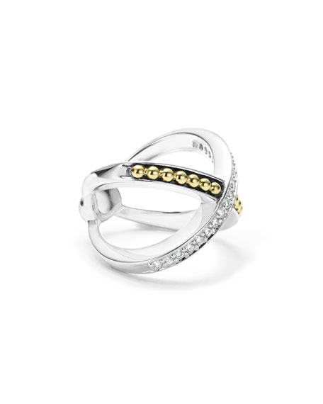 KSL Diamond X Ring, Size 7