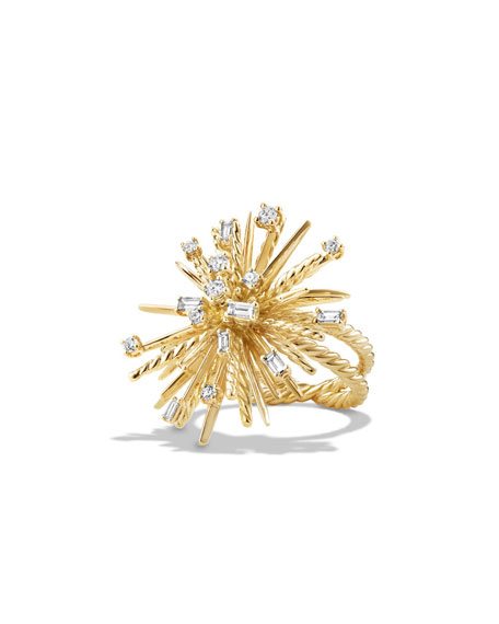David Yurman Supernova Mixed-Cut Diamond Spray Ring in