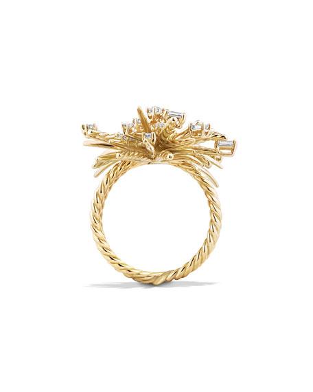David Yurman Supernova Mixed-Cut Diamond Spray Ring in 18K Gold, Size 6