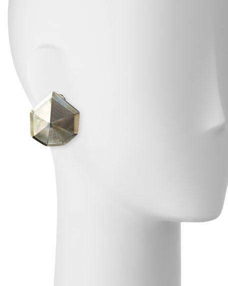 Star Dust Resin Earrings, Pierced