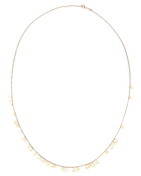 Kismet by Milka Seed Dangling Circle Necklace in 14K Rose Gold
