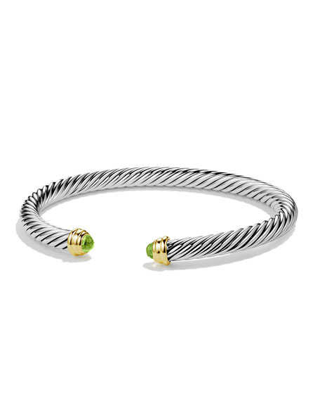 Cable Classics Bracelet with Peridot and Gold