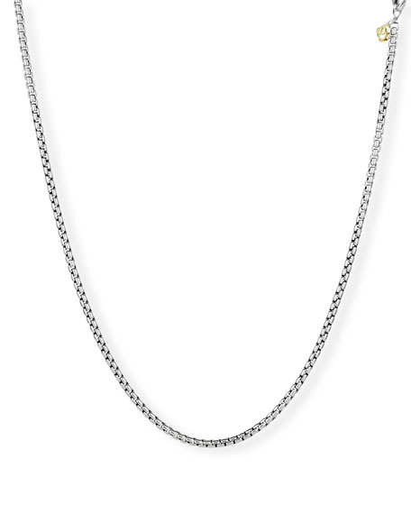 "David Yurman Medium Box Chain with Gold, 18""L"