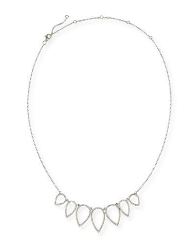 Diamond Open Teardrop Chain Necklace  20