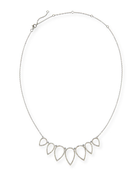 Siena Lasker Diamond Open Teardrop Chain Necklace, 20""