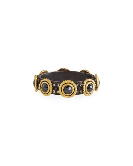Old World Diamond & Sapphire Ring